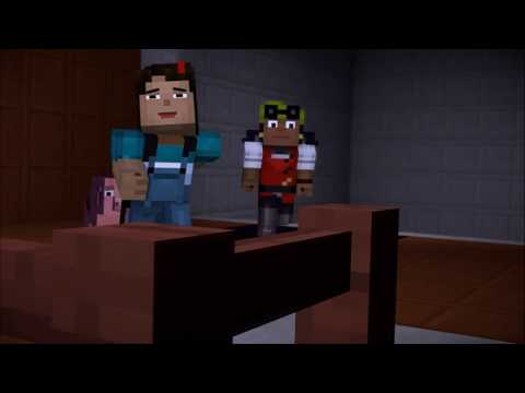 Minecraft Story Mode Season 1 Episode 2 Netflix Edition | Running From The Witherstorm Scene 2