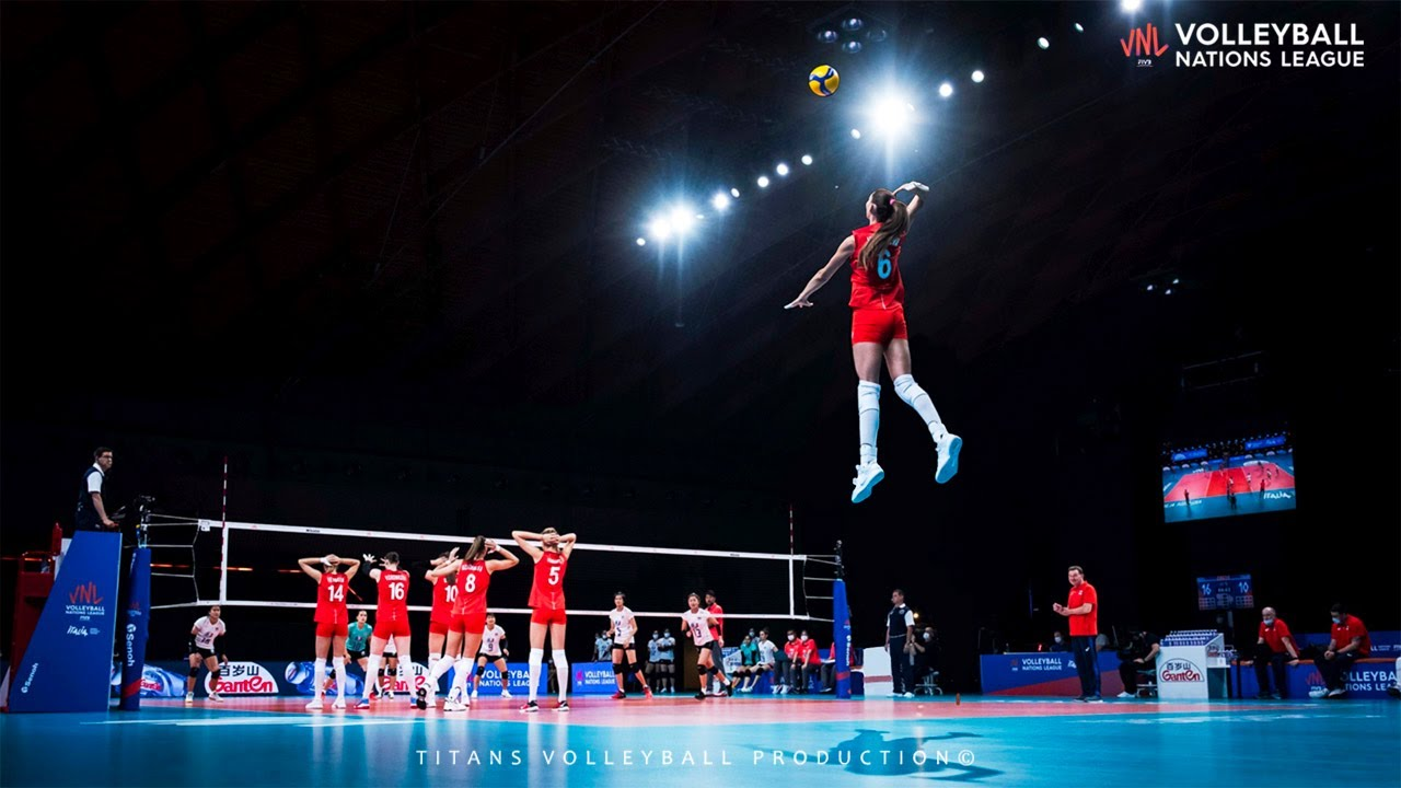 The Most Powerful Volleyball Serves (Aces) in Women's VNL 2021 (HD)