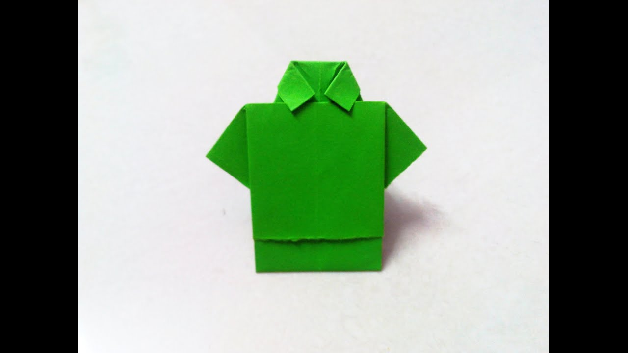 how to make an origami shirt step by step youtube