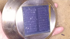 Solar panel sealing test and lighting experiment.