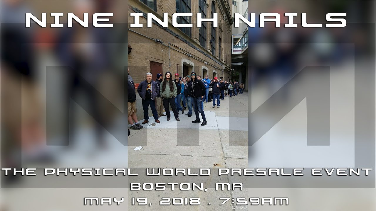 Nine Inch Nails: Boston Ticket Line - May 19, 2018; 7:59am - The ...