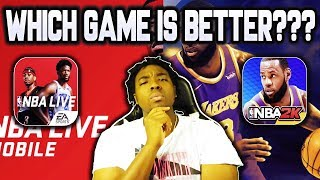 NBA 2K MOBILE VS NBA LIVE MOBILE!!! WHICH GAME IS BETTER???