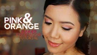 Pink and Orange Summer Eyeshadow Tutorial Thumbnail