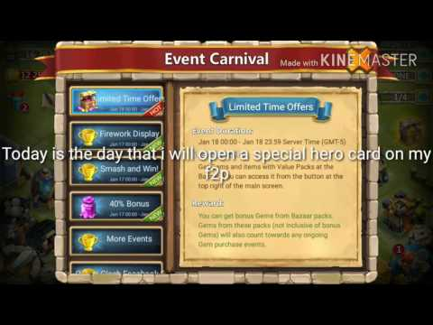 Castle Clash Opening A Special Hero Card We Got Lucky!