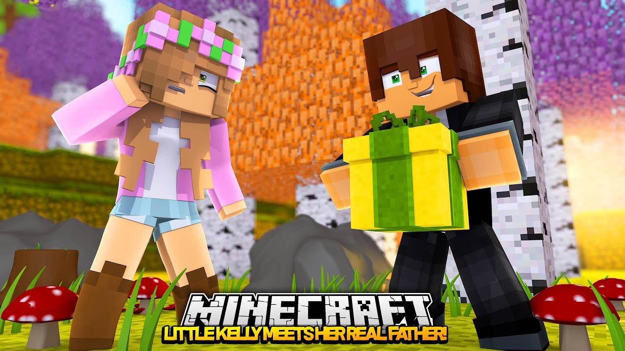 LITTLE KELLY MEETS HER REAL DAD! Minecraft My Other Life w/Leo