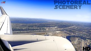 """X-Plane 11 Realistic 737-800 Landing l Photoreal Scenery By """"Ortho4XP"""""""