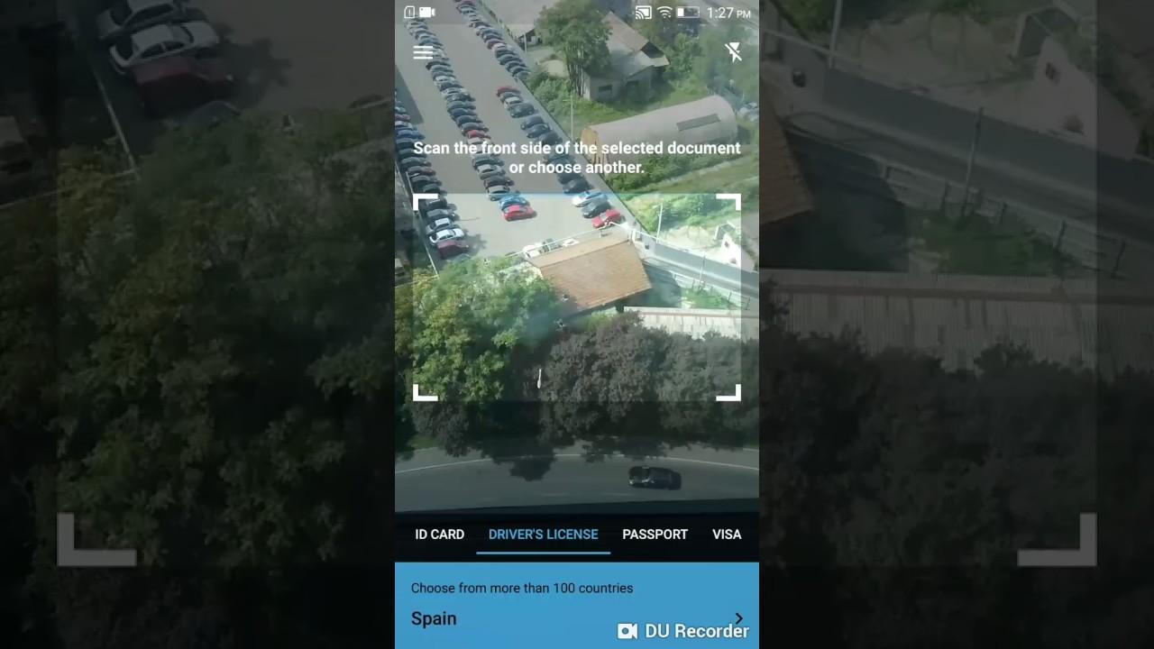BlinkID app - scanning Spanish DL