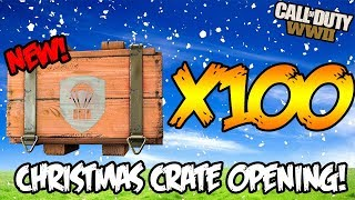 *100* NEW CHRISTMAS SUPPLY DROP OPENING - NEW WEAPONS CALL OF DUTY WW2 MULTIPLAYER & ZOMBIES!