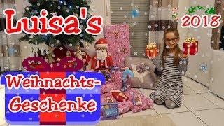 Heilig Abend 2018 | Luisa packt Geschenke aus | WHAT I GOT FOR CHRISTMAS
