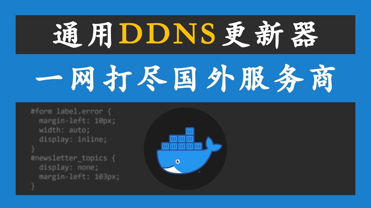 通用Docker DDNS更新器,一网打尽国外域名服务商