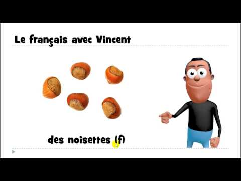 Learn 1 French word # des noisettes