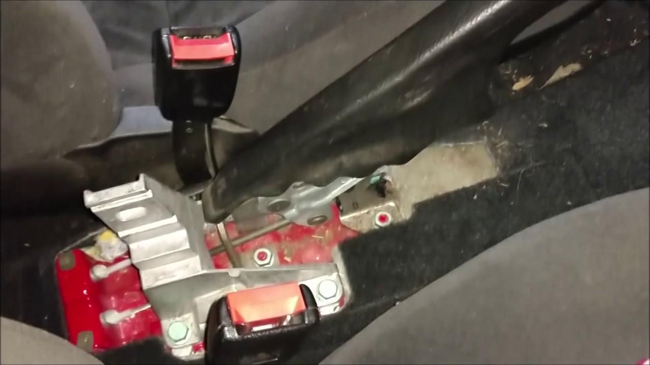 volkswagen golf mk4 parking brake switch removal [ 1280 x 720 Pixel ]