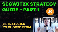 Bitcoin Segwit2x Fork Strategy Guide - Part 1, Three Strategies, Managing Risk/Reward - CMTV Ep79