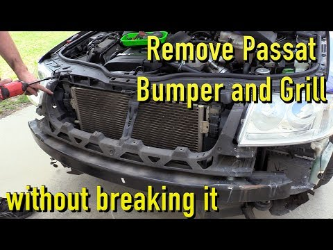 Remove and Install Passat Bumper Cover and Grill