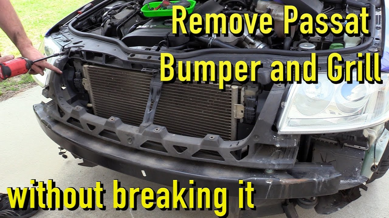 hight resolution of remove and install passat bumper cover and grill