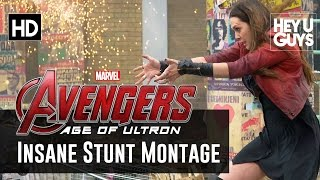 Avengers Age Of Ultron INSANE Stunts Montage Hemsworth Johansson Olsen Evans