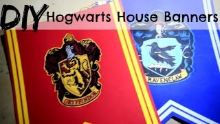 DIY Hogwarts House Crest Banners Tutorial