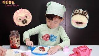엄마랑 뽀로로 초코 식빵 만들기 요리 장난감 놀이 Pororo Bread Toys Making/Cooking Review Игрушки おもちゃ 라임튜브