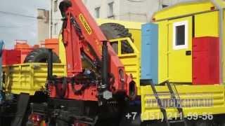 Автомастерская передвижная Камаз-43118, с КМУ Palfinger PK10000, производство ООО