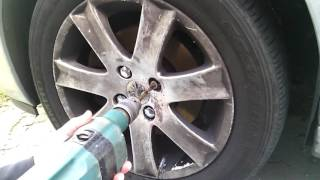 Removing Peugeot Locking Wheel Bolts - Shear Head Security Type