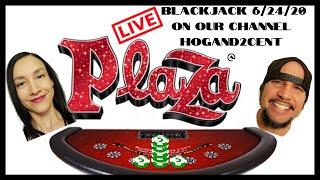 Live Blackjack from Tнe Plaza Casino Las Vegas | $1000 BUY IN