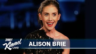 Alison Brie Saw Justin Bieber in Italy Singing About Pasta in the Pool
