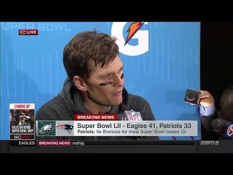 Tom Brady Postgame Interview   Patriots vs Eagles   Super Bowl LII