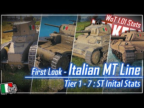 LEAKED! Italian MT Line – Tier 1-7 ST Stats || World of Tanks