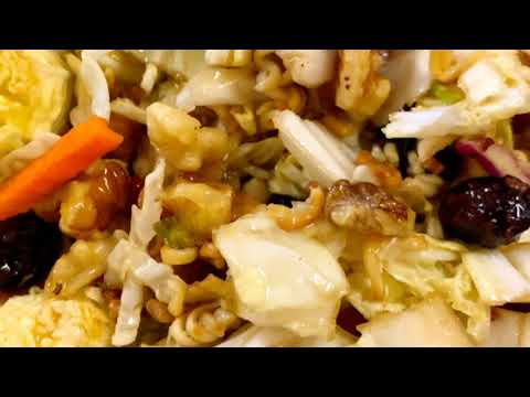 Ramen Cabbage Salad with Oriental Salad Dressing