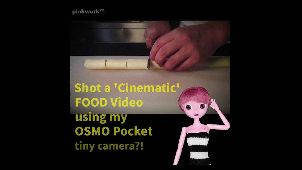 HOW to Shot ▲ Cinematic B-Roll Food Video using an OSMO Pocket Gimble Camera!! ~ Animated Robot Play