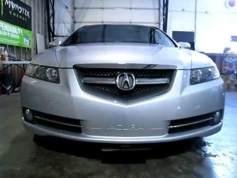 Acura TL Hiding Front Plate YouTube - Acura tl license plate frame
