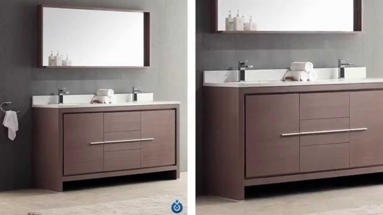 fresca fvngo allier  gray oak double vanity  youtube - fresca fvngo allier  gray oak double vanity modern bath house