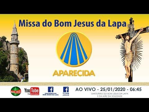 AO VIVO na TV APARECIDA Santa Missa direto do Santuário do Bom Jesus da Lapa - 25/01/2020 - 06:45