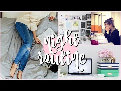 My Night Routine 2016 | Law School/University