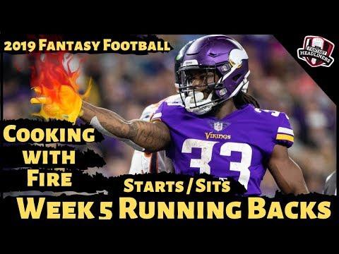 2019 Fantasy Football Advice - Week 5 Running Backs - Start or Sit? Every Match Up
