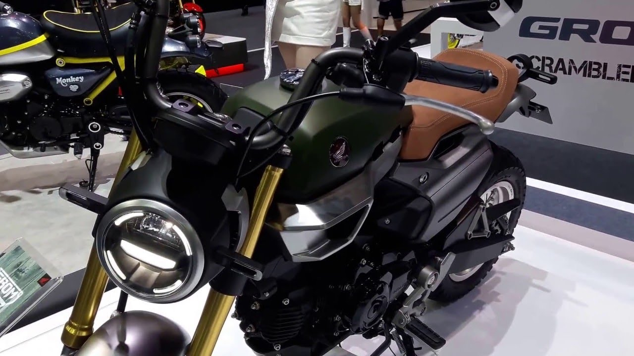 The Honda Grom 50 Scrambler Concept And Style Youtube