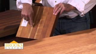 Edge Grain Wood Countertops And Butcher Blocks - Brooks Custom