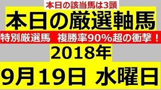 東京記念2018 毎日更新 【軸馬予想】■大井競馬■笠松競馬■2018年9月19日(水) thumbnail
