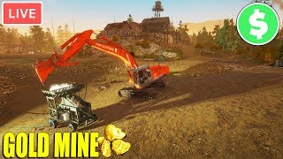 Digging for Golden Nuggets for CASH | 1.4.4 Machine Breakdown Update | Gold Rush: The Game Gameplay