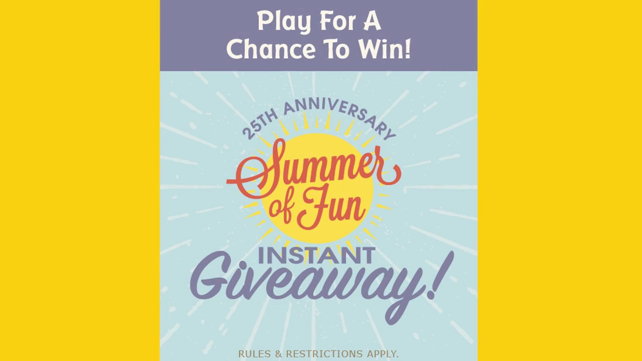 Really Good Stuff's 25th Anniversary Summer Fun Sweepstakes!