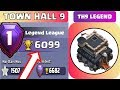 Town Hall 9 LEGEND Guide Full - TH9 Attack Strategy - Clash of Clans (COC) 2019