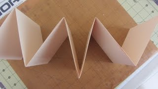 How to Make a Accordion Fold Mini Album Crafts With Paper Tutorial