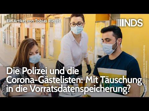 Polizei und die Corona-Gästelisten: Mit Täuschung in die Vorratsdatenspeicherung? | Tobias Riegel