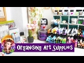 Rearranging and Cleaning My Art Desk and Organising Art Supplies - Artist Vlog