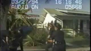 LAPD Cops Disarm Bloody Man with a Knife