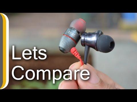 [ Hindi ] boAt BassHeads 200 Vs MI Basics 500 Rs Earphones Comparison