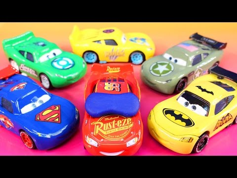 Thumbnail: Disney Pixar cars 3 Lightning McQueen Dreams Jackson Storm Rescue Imaginext Batman Hulk Smash