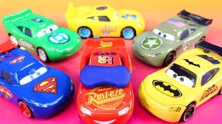 Disney Pixar cars 3  Lightning McQueen Dreams Jackson Storm Rescue Imaginext Batman Hulk Smash thumbnail