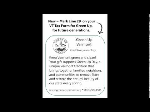 Green Up Vermont now on VT Tax Form - YouTube
