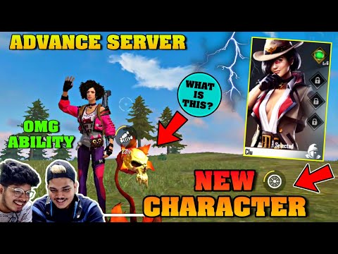 PLAYING WITH NEW CHARACTER CLU  IN ADVANCE SEVERS || OMG ABILITY- LIVE REACTION